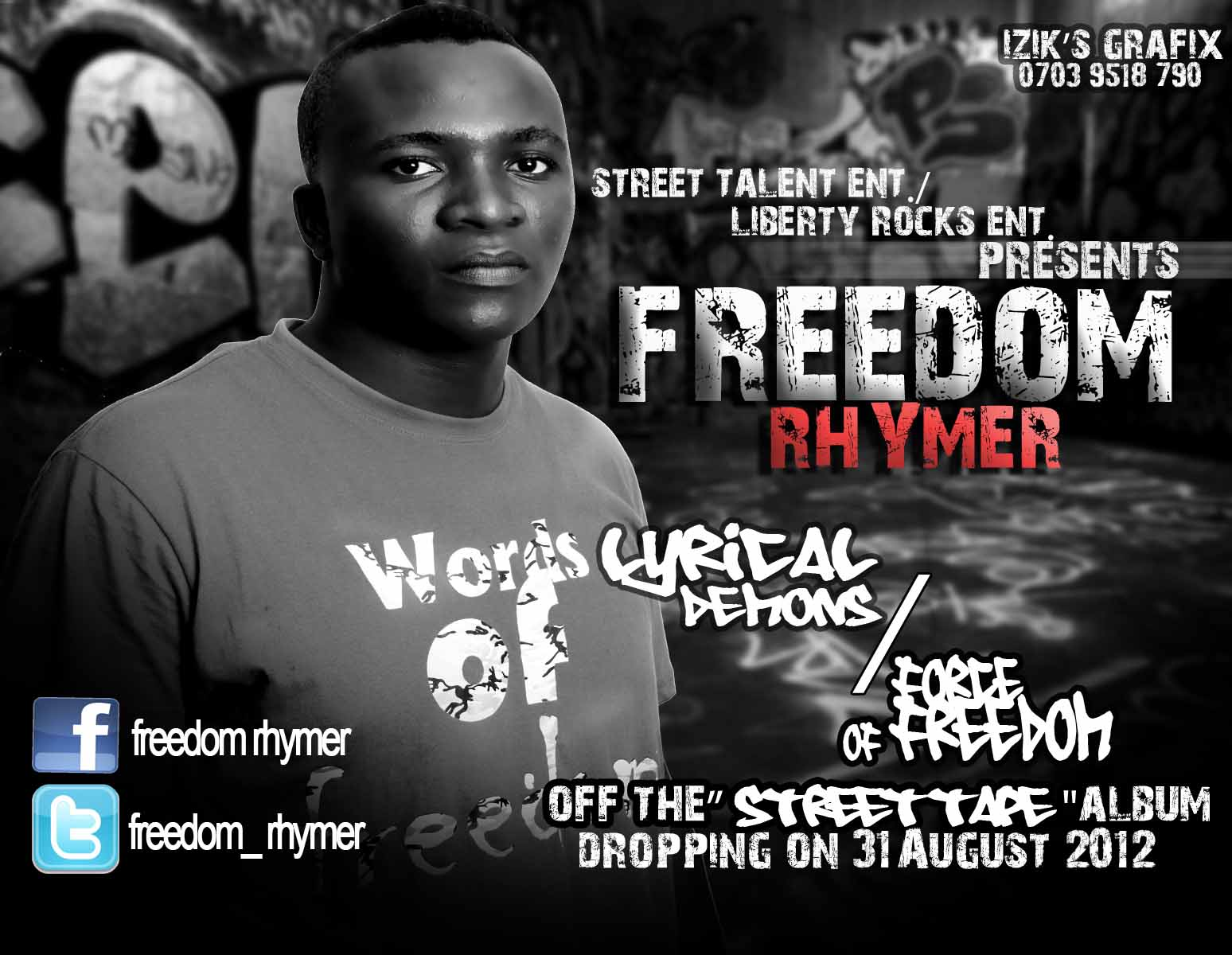 Freedom Rhymer - LYRICAL DEMONS + FORCE OF FREEDOM Artwork | AceWorldTeam.com