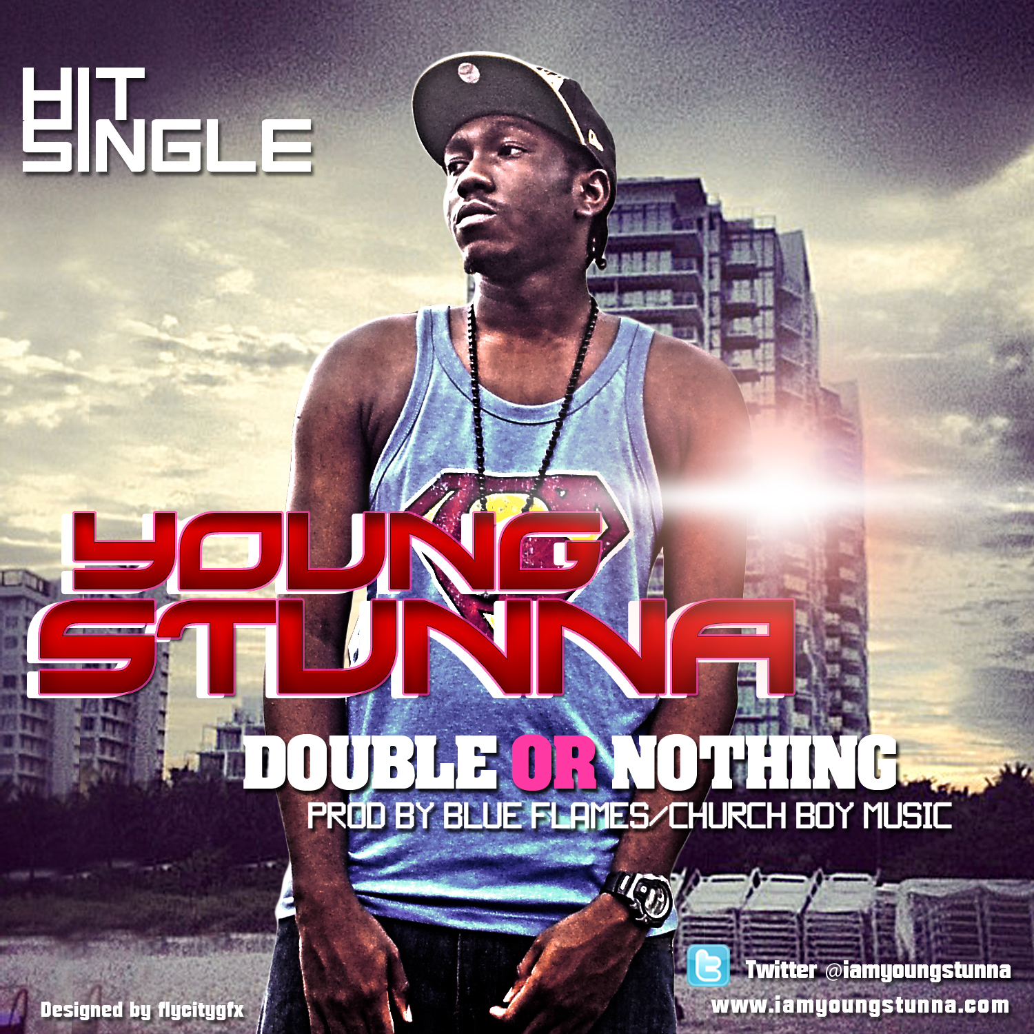 Young Stunna - Double or Nothin' [prod. by Blue Flames] Artwork | AceWorldTeam.com