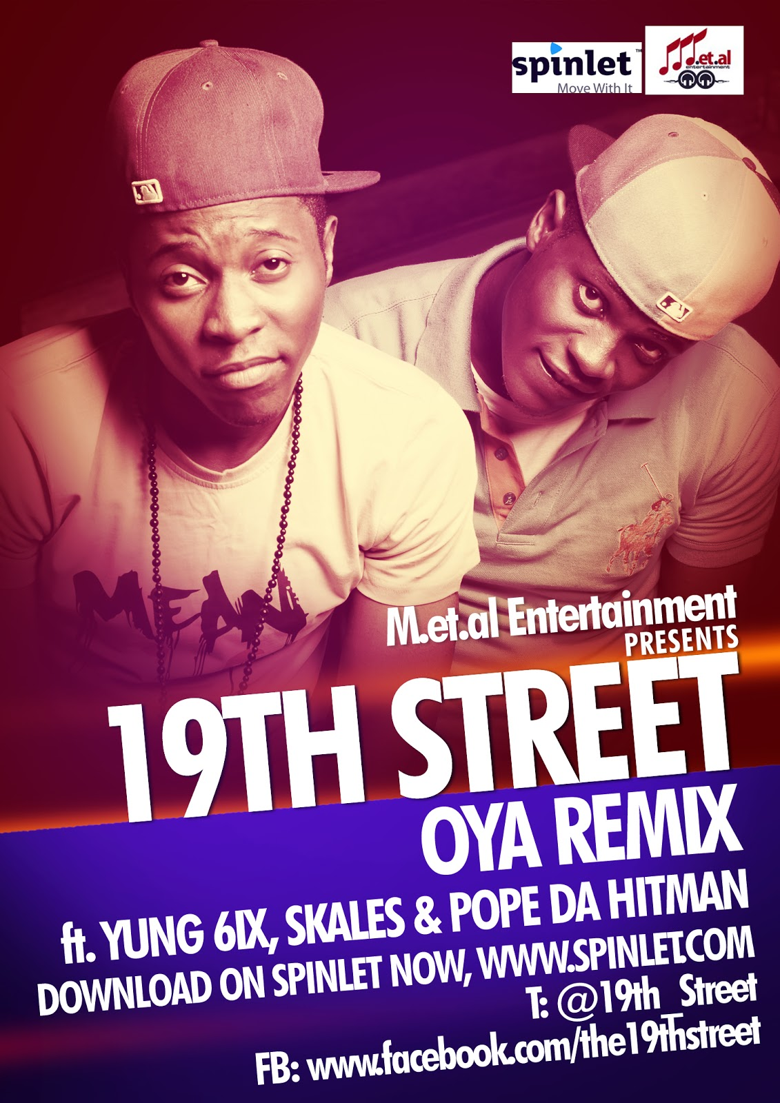 19th Street ft. Yung6ix, Skales 'n' Pope Da Hitman - OYA [Remix] Artwork   AceWorldTeam.com