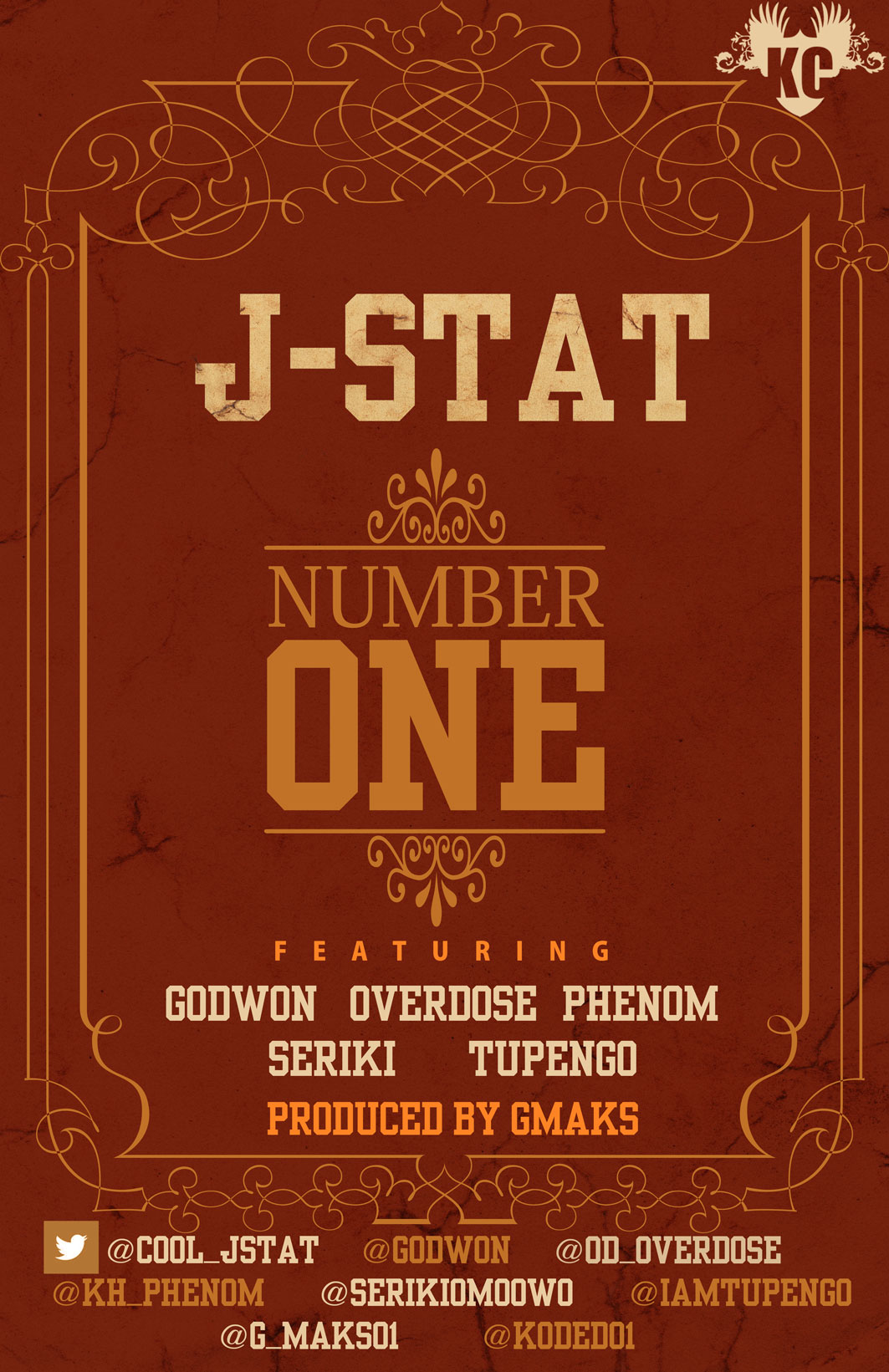 J-Stat ft. OverDose, Godwon, Seriki, Tupengo 'n' Phenom - NUMBER ONE [prod. by G-Maks] Artwork | AceWorldTeam.com