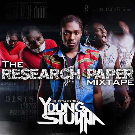 Young Stunna - The Research Paper Mixtape Front Cover | AceWorldTeam.com